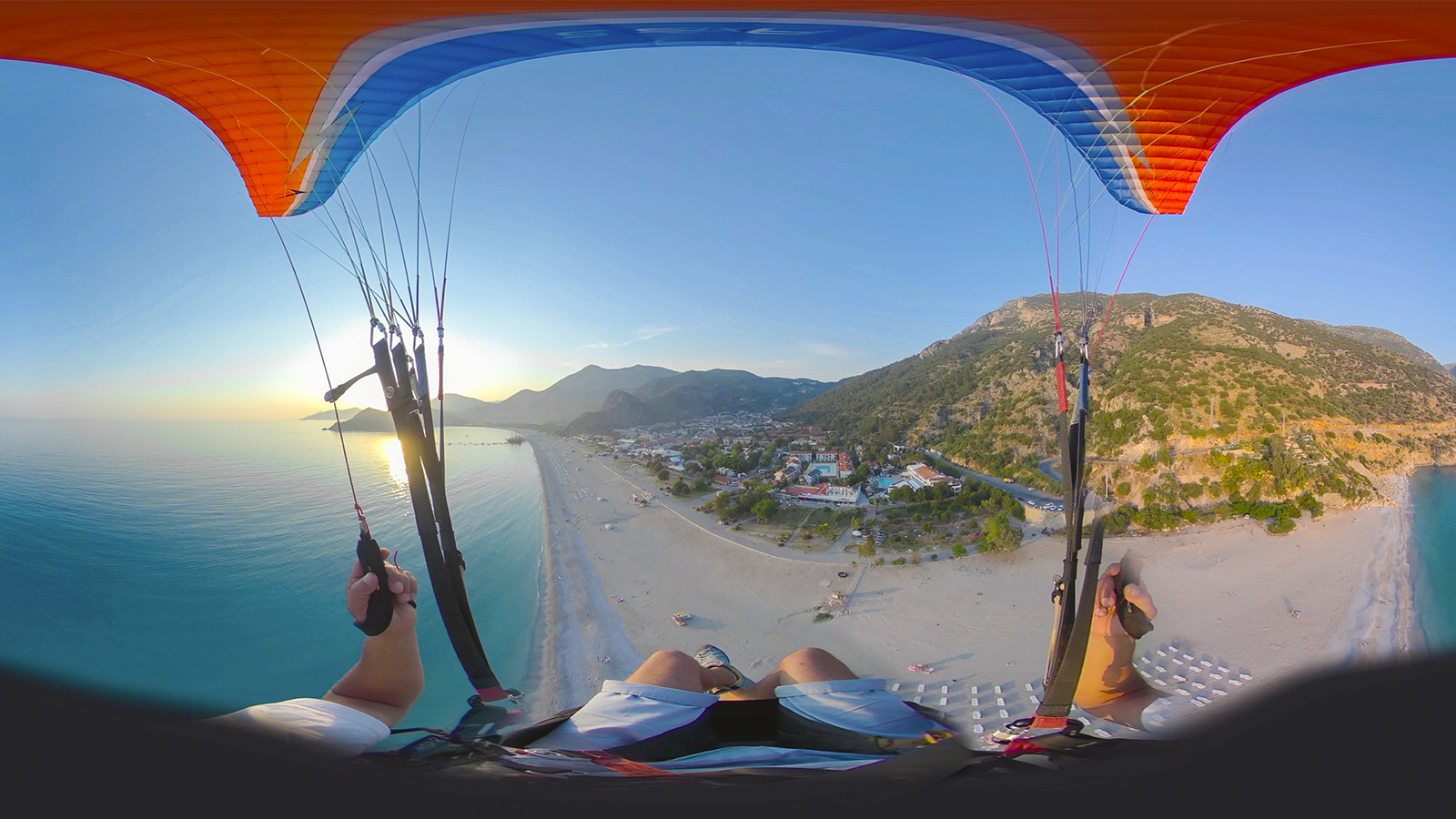 Paragliding at Sunset in Turkey
