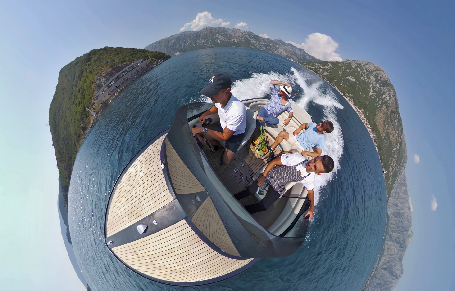 Frauscher speedboat 360 GoPro video