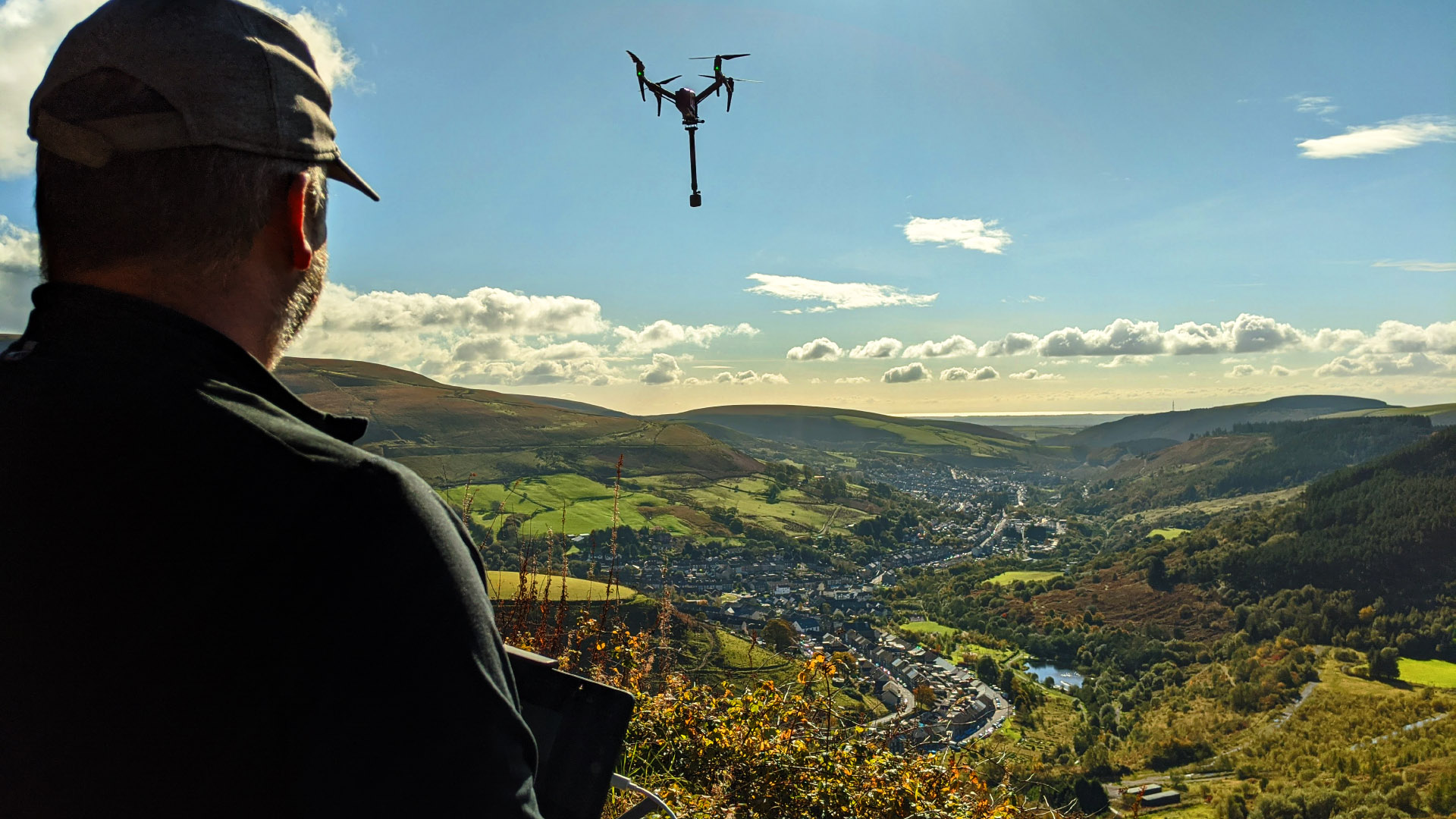VR Drone Wales UK